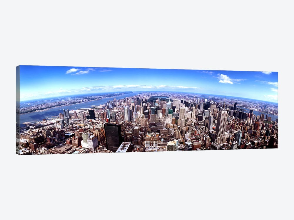 Skyscrapers in a city, Manhattan, New York City, New York State, USA 2011 by Panoramic Images 1-piece Canvas Print