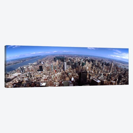 Skyscrapers in a city, Manhattan, New York City, New York State, USA 2011 #2 Canvas Print #PIM9507} by Panoramic Images Canvas Wall Art