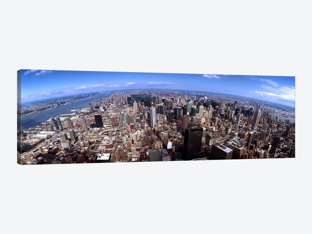 Skyscrapers in a city, Manhattan, New York City, New York State, USA 2011 #2 by Panoramic Images 1-piece Canvas Art