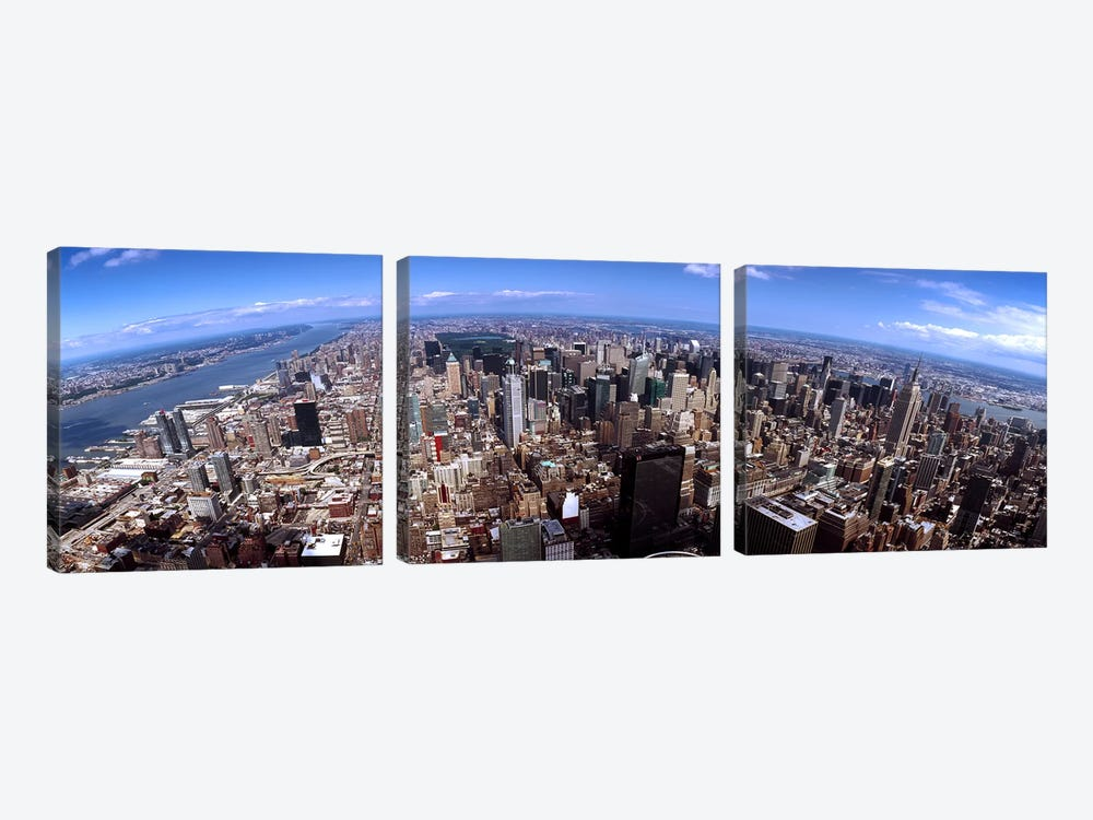 Skyscrapers in a city, Manhattan, New York City, New York State, USA 2011 #2 by Panoramic Images 3-piece Canvas Art