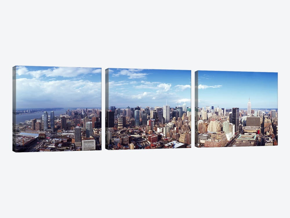 Skyscrapers in a city, Manhattan, New York City, New York State, USA 2011 #3 by Panoramic Images 3-piece Canvas Print