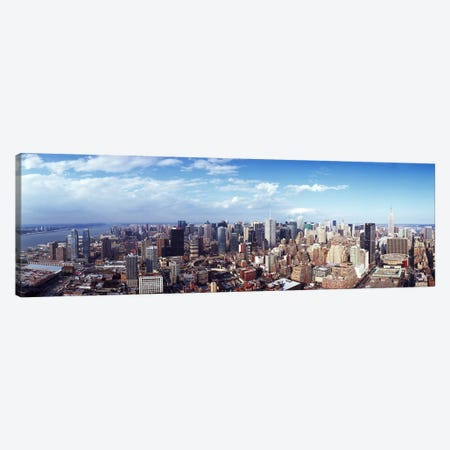 Skyscrapers in a city, Manhattan, New York City, New York State, USA 2011 #3 Canvas Print #PIM9508} by Panoramic Images Canvas Print