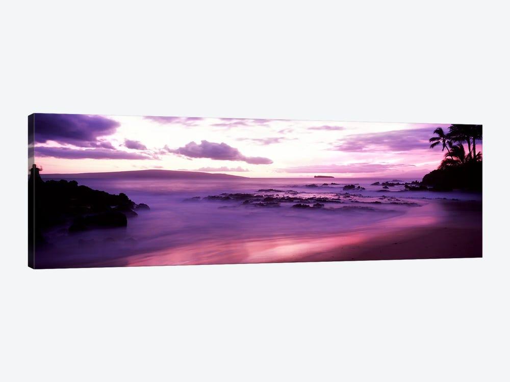 Fuchsia Coastal Sunset, Makena Beach, Maui, Hawaii, USA by Panoramic Images 1-piece Canvas Wall Art