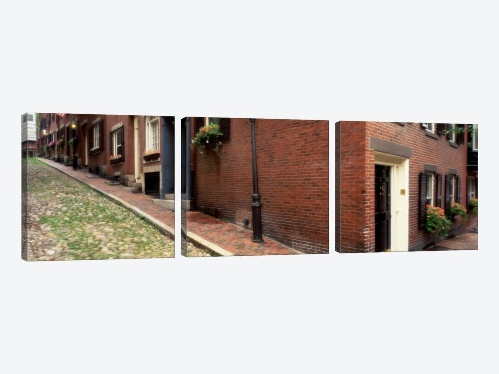 USAMassachusetts, Boston, Beacon Hill 3-piece Canvas Wall Art