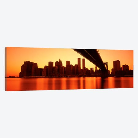 USANew York, East River and Brooklyn Bridge Canvas Print #PIM953} by Panoramic Images Canvas Art