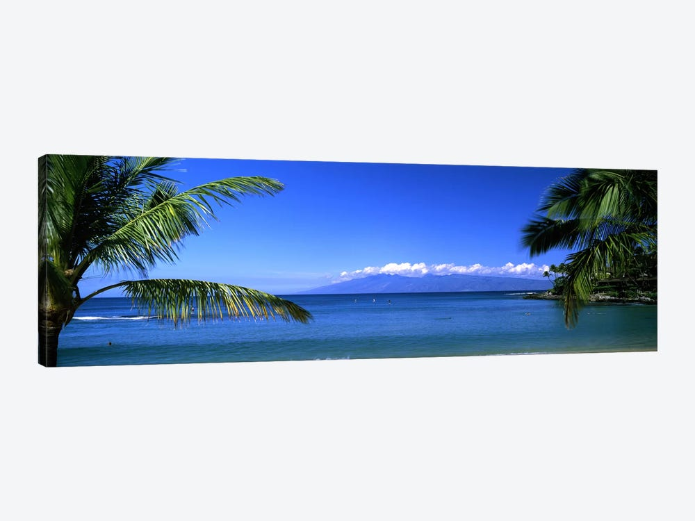 Distant View Of Molokai From Kapalua Beach, Maui, Hawaii, USA by Panoramic Images 1-piece Art Print