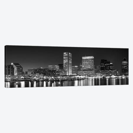 City at the waterfront, Baltimore, Maryland, USA Canvas Print #PIM9544} by Panoramic Images Canvas Wall Art