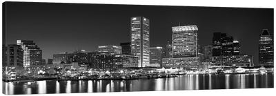City at the waterfront, Baltimore, Maryland, USA Canvas Art Print