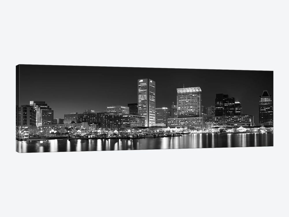 City at the waterfront, Baltimore, Maryland, USA by Panoramic Images 1-piece Art Print