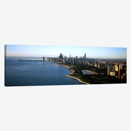 Skyscrapers at the waterfront, Grant Park, Lake Michigan, Chicago, Cook County, Illinois, USA 2011 Canvas Print #PIM9549} by Panoramic Images Canvas Art Print