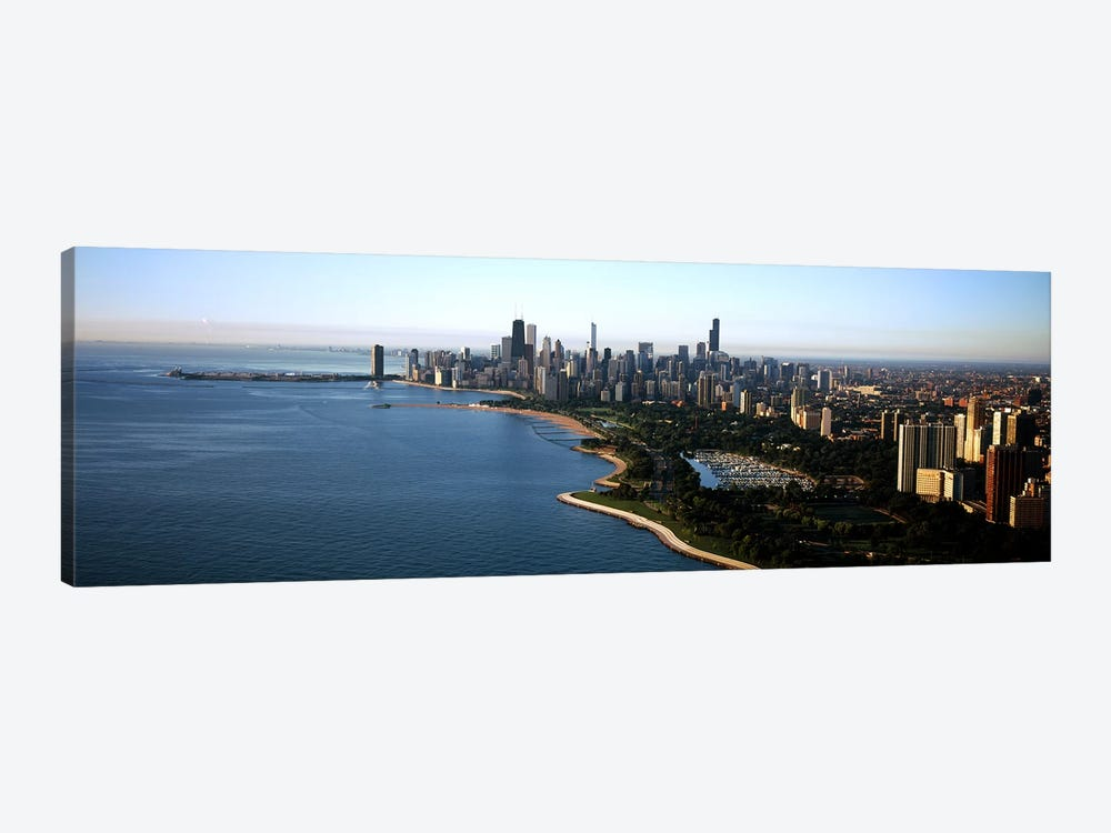 Skyscrapers at the waterfront, Grant Park, Lake Michigan, Chicago, Cook County, Illinois, USA 2011 by Panoramic Images 1-piece Canvas Art