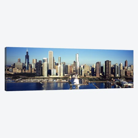 Skyscrapers in a cityNavy Pier, Chicago Harbor, Chicago, Cook County, Illinois, USA Canvas Print #PIM9550} by Panoramic Images Canvas Art