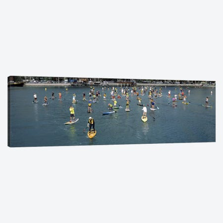 Paddleboarders in the Pacific Ocean, Dana Point, Orange County, California, USA Canvas Print #PIM9560} by Panoramic Images Canvas Print