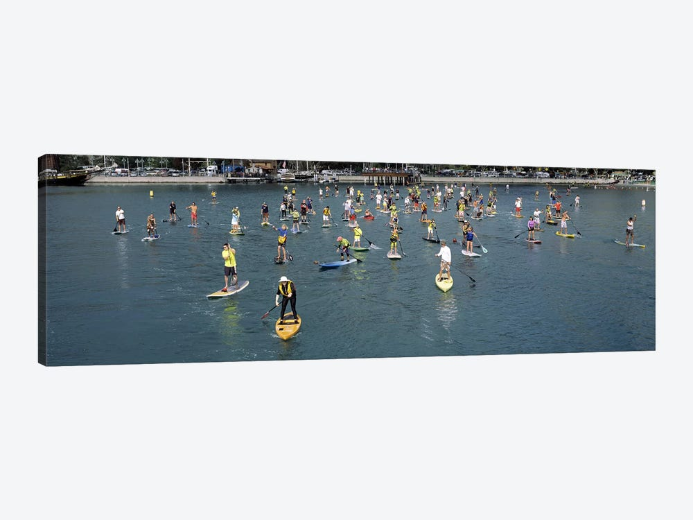 Paddleboarders in the Pacific Ocean, Dana Point, Orange County, California, USA by Panoramic Images 1-piece Art Print