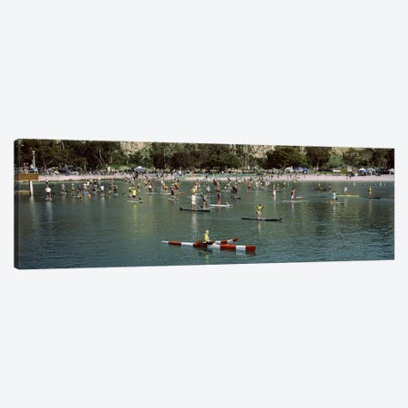 Paddleboarders in the Pacific Ocean, Dana Point, Orange County, California, USA #2 Canvas Print #PIM9561} by Panoramic Images Canvas Art Print