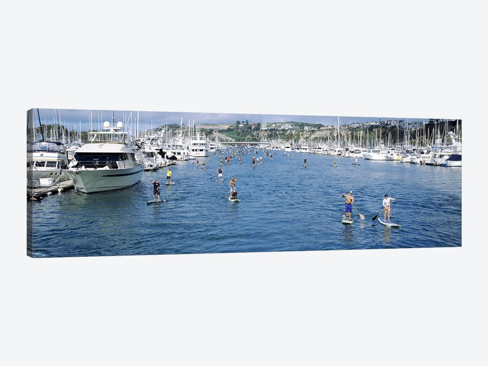 Paddleboarders in the Pacific Ocean, Dana Point, Orange County, California, USA #3 by Panoramic Images 1-piece Art Print