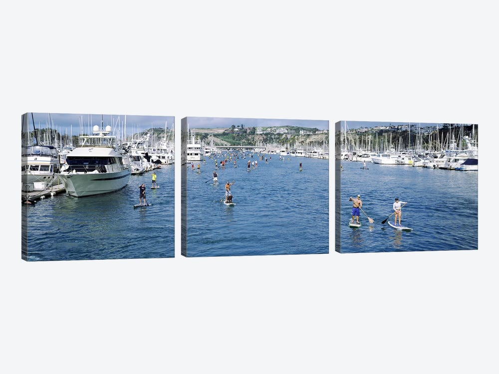 Paddleboarders in the Pacific Ocean, Dana Point, Orange County, California, USA #3 by Panoramic Images 3-piece Art Print