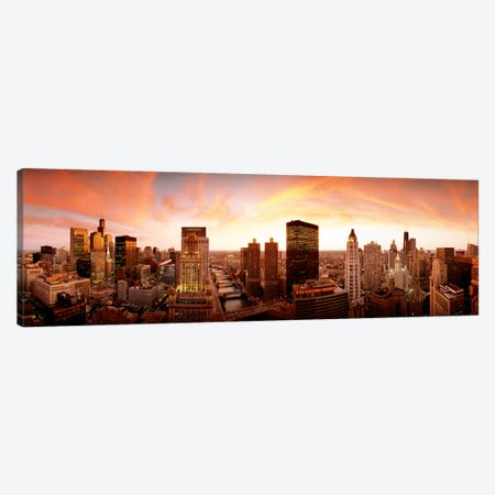 Sunset Skyline Chicago IL USA Canvas Print #PIM956} by Panoramic Images Canvas Print