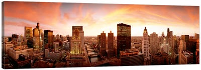 Sunset Skyline Chicago IL USA Canvas Print #PIM956