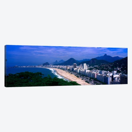 High-Angle View Of Copacabana And Surround National Parks, Rio de Janeiro, Brazil Canvas Print #PIM957} by Panoramic Images Art Print