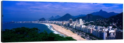 High-Angle View Of Copacabana And Surround National Parks, Rio de Janeiro, Brazil Canvas Art Print