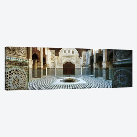 Interiors of a medersa, Medersa Bou Inania, Fez, Morocco Canvas Print #PIM9581} by Panoramic Images Canvas Art Print
