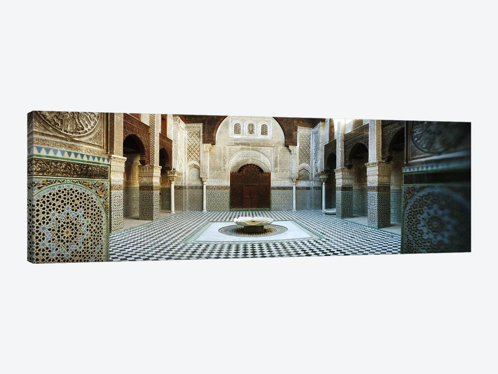 Interiors of a medersa, Medersa Bou Inania, Fez, Morocco by Panoramic Images 1-piece Canvas Artwork