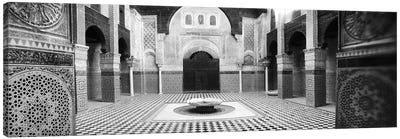 Interiors of a medersa, Medersa Bou Inania, Fez, Morocco #2 Canvas Print #PIM9582
