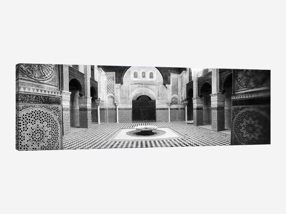 Interiors of a medersa, Medersa Bou Inania, Fez, Morocco #2 by Panoramic Images 1-piece Canvas Art Print