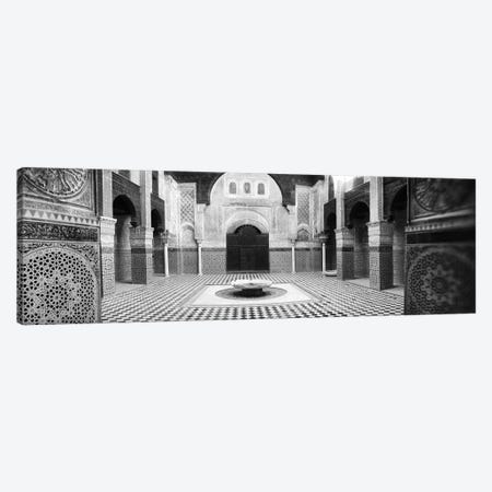 Interiors of a medersa, Medersa Bou Inania, Fez, Morocco #2 Canvas Print #PIM9582} by Panoramic Images Canvas Art Print