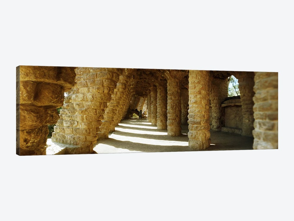 Architectural detail of the famous park designed by Catalan architect Antonio Gaudi, Park Guell, Barcelona, Catalonia, Spain by Panoramic Images 1-piece Art Print