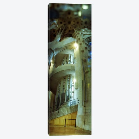 Interiors of a church designed by Catalan architect Antonio Gaudi, Sagrada Familia, Barcelona, Catalonia, Spain Canvas Print #PIM9585} by Panoramic Images Canvas Artwork