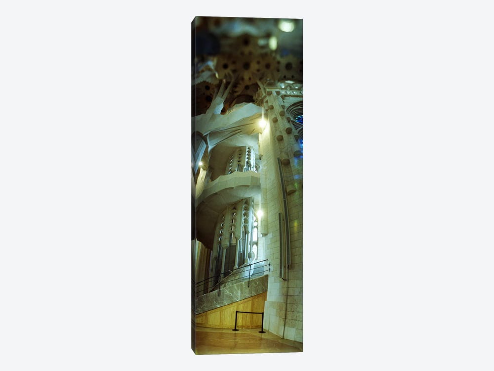 Interiors of a church designed by Catalan architect Antonio Gaudi, Sagrada Familia, Barcelona, Catalonia, Spain by Panoramic Images 1-piece Canvas Art