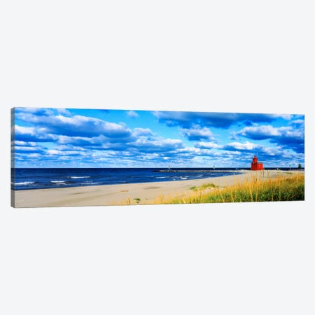 Big Red Lighthouse, Holland, Michigan, USA Canvas Print #PIM958} by Panoramic Images Canvas Artwork