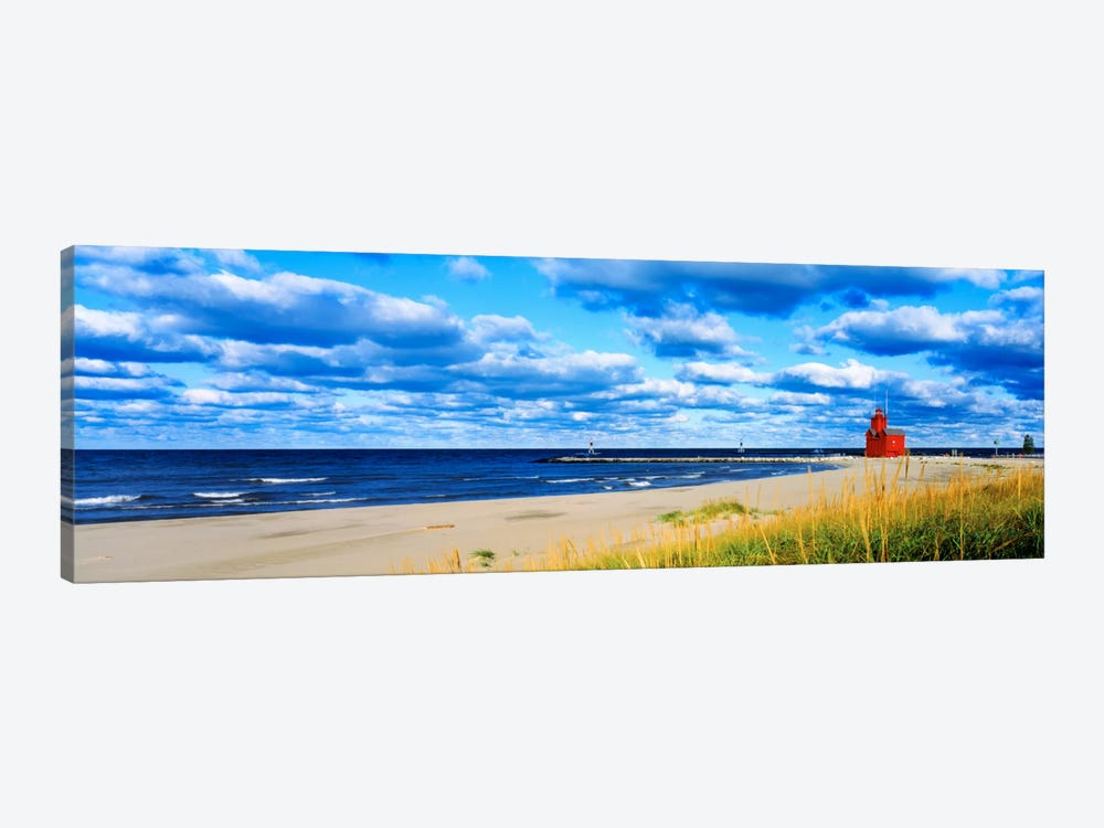 Big Red Lighthouse, Holland, Michigan, USA by Panoramic Images 1-piece Canvas Art Print
