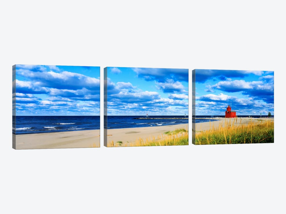 Big Red Lighthouse, Holland, Michigan, USA by Panoramic Images 3-piece Canvas Print