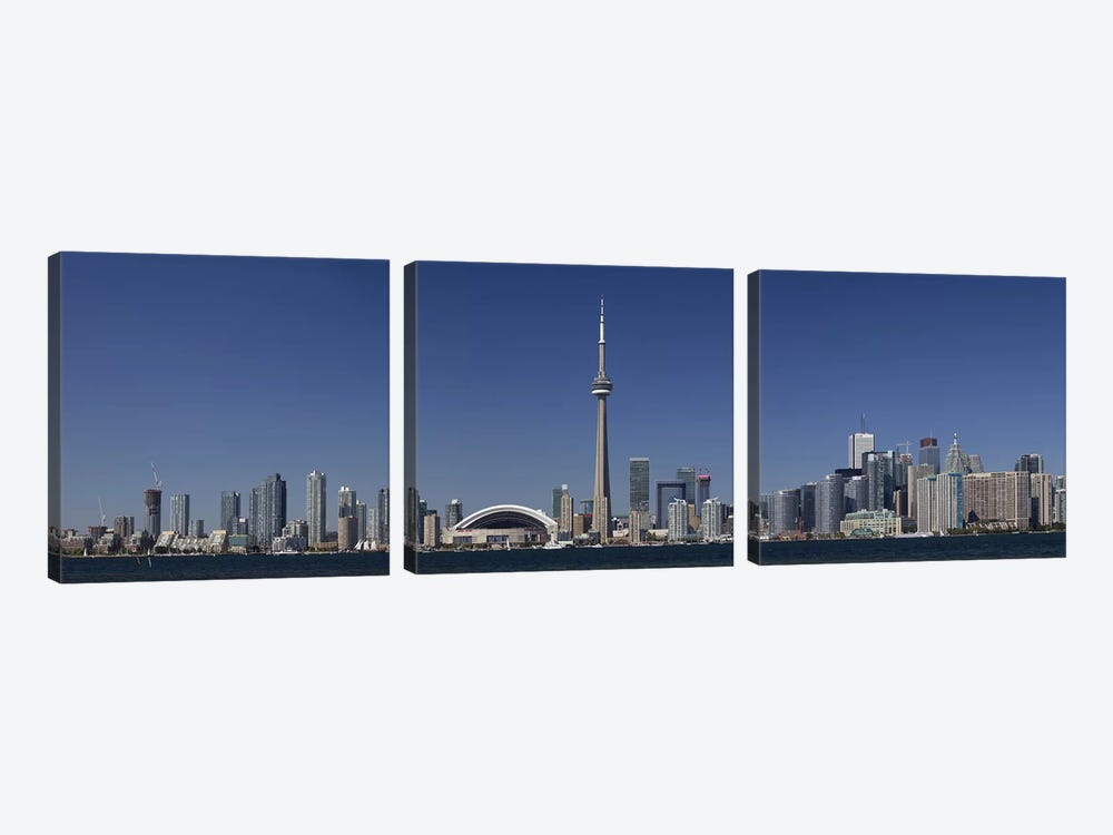 Downtown Skyline, Toronto, Ontario, Canada by Panoramic Images 3-piece Canvas Art Print