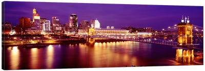 USAOhio, Cincinnati, night Canvas Art Print