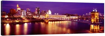 USAOhio, Cincinnati, night Canvas Art Print