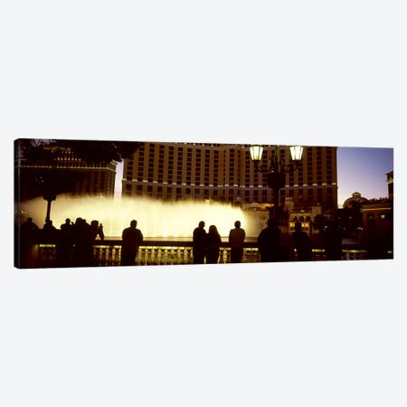 Tourists looking at a fountainLas Vegas, Clark County, Nevada, USA Canvas Print #PIM9600} by Panoramic Images Canvas Art