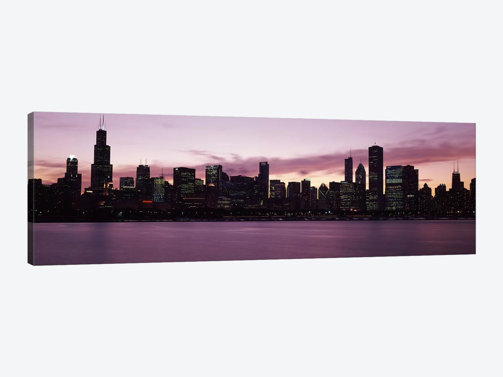 Buildings at the waterfront, Lake Michigan, Chicago, Illinois, USA 2011 by Panoramic Images 1-piece Canvas Art Print