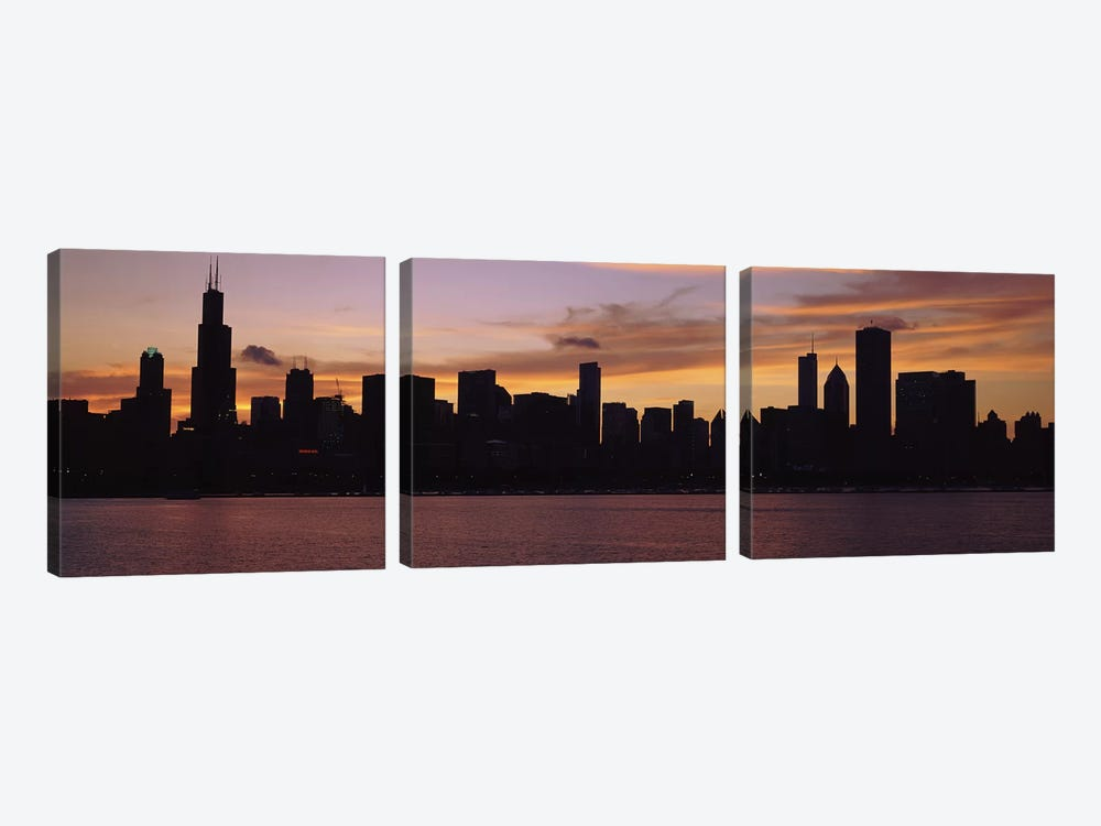 Buildings at the waterfront, Lake Michigan, Chicago, Illinois, USA 2011 #2 by Panoramic Images 3-piece Canvas Wall Art