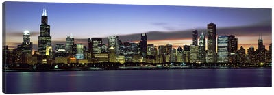 Buildings at the waterfront, Lake Michigan, Chicago, Illinois, USA Canvas Art Print