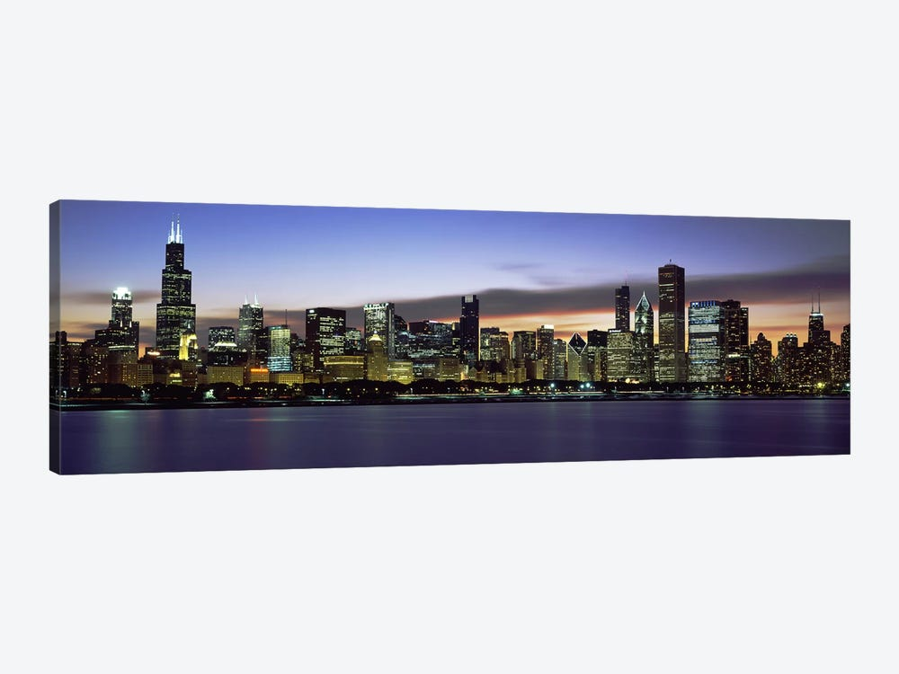 Buildings at the waterfront, Lake Michigan, Chicago, Illinois, USA by Panoramic Images 1-piece Canvas Artwork