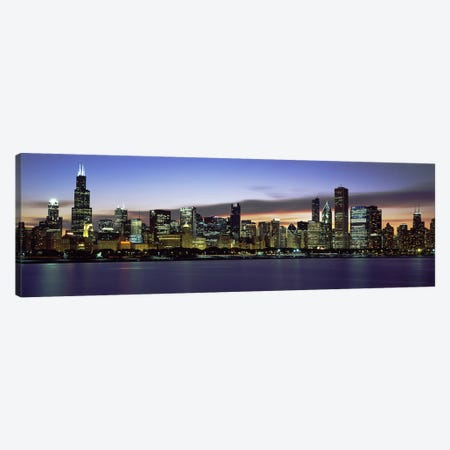 Buildings at the waterfront, Lake Michigan, Chicago, Illinois, USA Canvas Print #PIM9605} by Panoramic Images Art Print