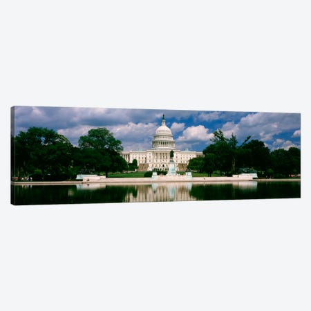 Government building on the waterfront, Capitol Building, Washington DC, USA Canvas Print #PIM960} by Panoramic Images Art Print