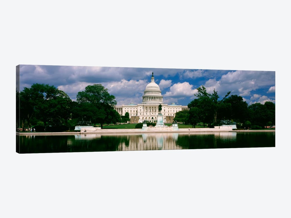 Government building on the waterfront, Capitol Building, Washington DC, USA 1-piece Canvas Artwork
