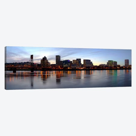 Buildings at the waterfront, Portland, Multnomah County, Oregon, USA Canvas Print #PIM9626} by Panoramic Images Canvas Art Print