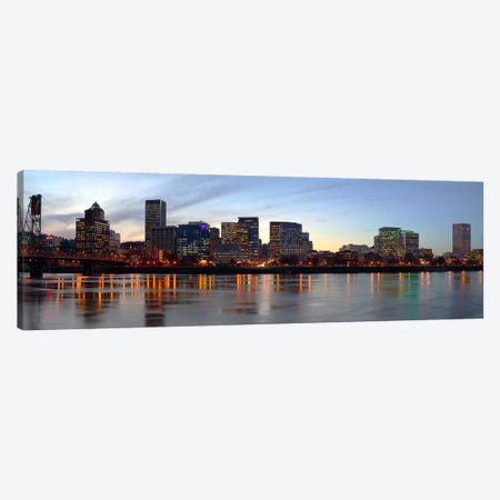 Buildings at the waterfront, Portland, Multnomah County, Oregon, USA #2 Canvas Print #PIM9627} by Panoramic Images Canvas Art Print