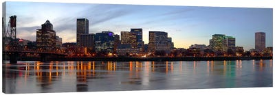 Buildings at the waterfront, Portland, Multnomah County, Oregon, USA #2 Canvas Art Print